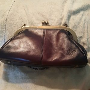 PATRICIA NASH NEW MERLOT STAIN LEATHER CLUTCH